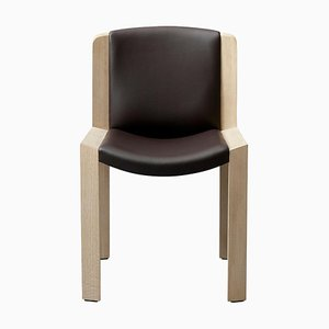 Chair in 300 Wood and Sørensen Leather by Joe Colombo