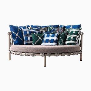 Trampolin Outdoor Sofa aus Stahl, Seil & Stoff von Patricia Urquiola für Cassina