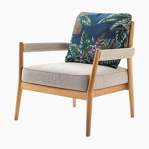 Dine Out Armchair Teak in Rope and Water-Repellent Fabric by Rodolfo Dordoni for Cassina