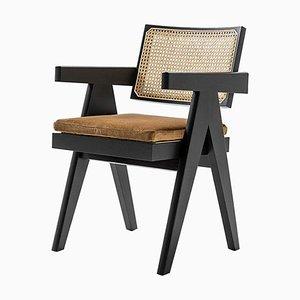 Chaise de Bureau Capitol Complex Modèle 051 avec Coussin par Pierre Jeanneret pour Cassina