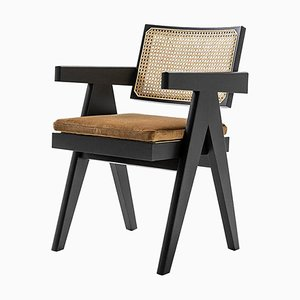 Model 051 Capitol Complex Office Chair with Cushion by Pierre Jeanneret for Cassina