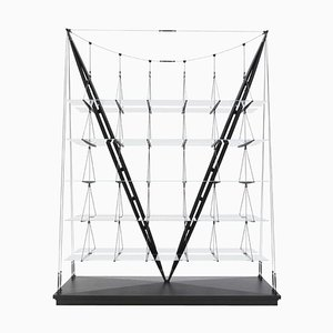 Veleiro Bookcase in Black Stained Wood by Franco Albini for Cassina