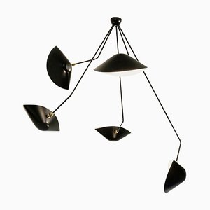 Spider 5 Broken Arms Ceiling Lamp by Serge Mouille
