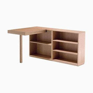Lc16 Writing Wood Desk and Shelf by Le Corbusier for Cassina