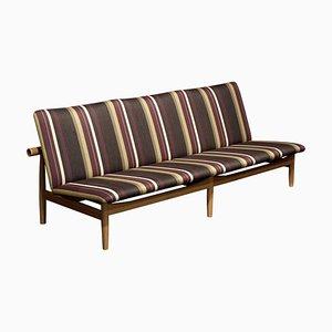 Japan Series 3-Seat Sofa in Wood & Special Kjellerup Fabric by Finn Juhl
