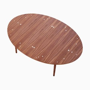 Walnut Table with Silver Inlays by Finn Juhl