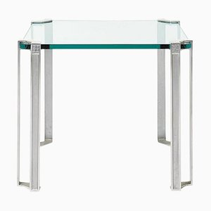 Table Pioneer T24 Steel or Glass by Peter Ghyczy