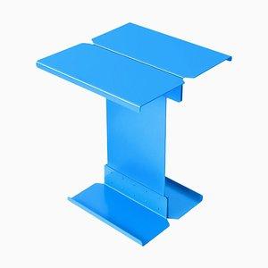 Mesa de centro escultural de metal azul de Adolfo Abejon