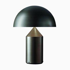 Grande Lampe de Bureau Atollo en Bronze Satiné par Vico Magistretti pour Oluce