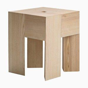 Sgabello o tavolino Triangle in legno di Aldo Bakker