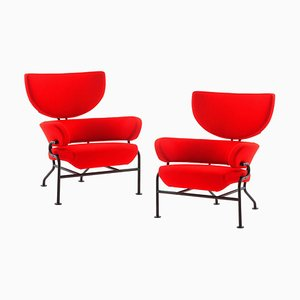 Tre Pezzi Armchairs by Franco Albini for Cassina, Set of 2