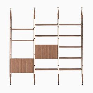 Modular Bookcase Infinito in Wood by Franco Albini for Cassina