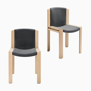 Chair in 300 Wood and Kvadrat Fabric by Joe Colombo
