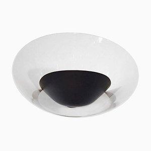 Schwarze Saturn Wandlampe von Serge Mouille