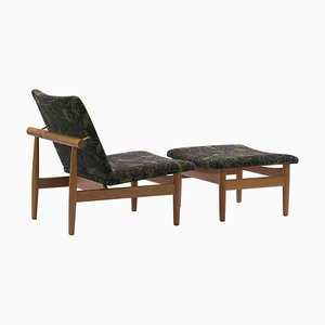 Japan Series Chair and Footstool by Finn Juhl, Set of 2