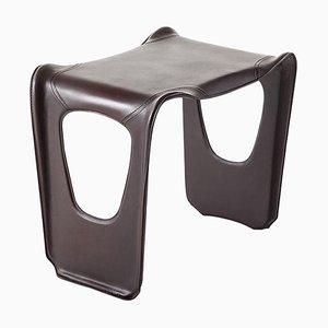 Gueridon Niedriger Mehrzweck Tisch aus Leder & Glasfaser von Charlotte Perriand für Cassina