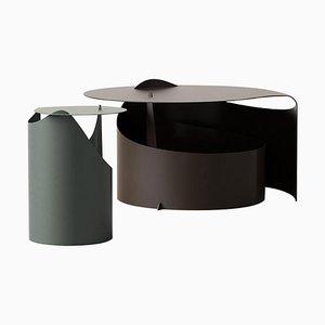 Rolle Steel Coffee Tables by Aldo Bakker, Set of 2