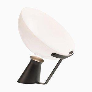 Lampada da tavolo Aida in alluminio e vetro di Angelo Mangiarotti