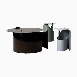 Coffee Tables in Rolle Steel by Aldo Bakker, Set of 3