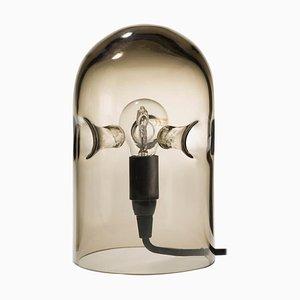 Lampada da tavolo tripode in vetro fumé di Gijs Bakker