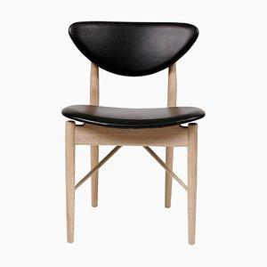 Sedia 108 in legno e pelle di Finn Juhl