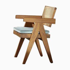 Chaise de Bureau 051 Capitol Complex avec Coussin par Pierre Jeanneret pour Cassina