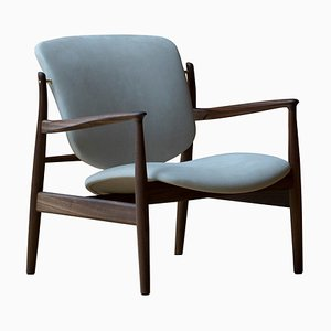 France Chair in Wood and Fabric by Finn Juhl