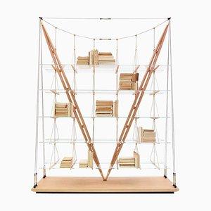 Librería Veleiro de madera de Franco Albini para Cassina