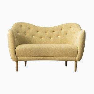 46 Sofa Couch aus Holz und Stoff von Finn Juhl