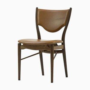 46 Chair in Wood and Elegance Walnut Leather by Finn Juhl