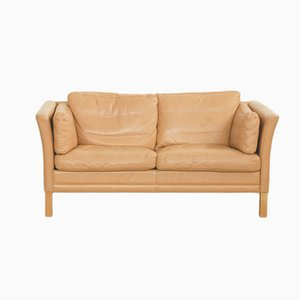 Vintage Two-Seater Leather Sofa by Mogens Hansen