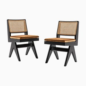 Model 055 Capitol Complex Chairs by Pierre Jeanneret for Cassina, Set of 2