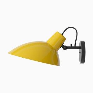 Lampada da parete Vv Cinquanta nera e gialla di Vittoriano Viganò per Astep