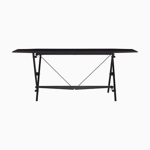 Stand Table in Black Stained Wood by Franco Albini for Cassina