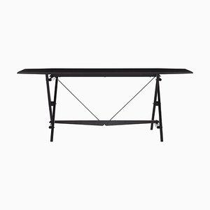Stand Tisch aus schwarz gebeiztem Holz von Franco Albini für Cassina