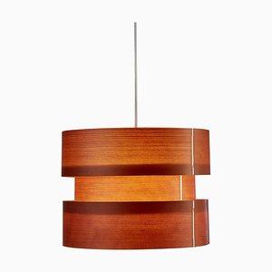 Coderch Kleine Cister Hängelampe aus Holz von José Antonio Coderch