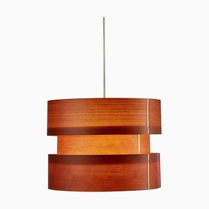 Lampada a sospensione piccola Coderch in legno di José Antonio Coderch