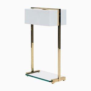 Lampada da tavolo Urban Tom Mw10 in ottone lucido / vetro trasparente di Peter Ghyczy