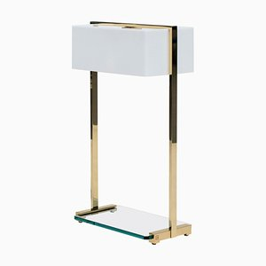 Table Lamp Urban Tom Mw10 Brass Gloss / Clear Glass by Peter Ghyczy