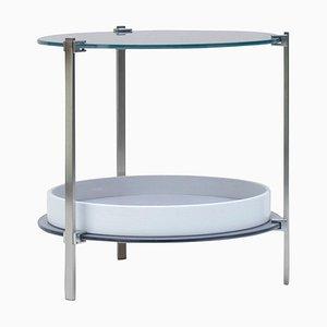 Side Table Pioneer Amy T79db Steel Matt or Aluminum Matt by Peter Ghyczy