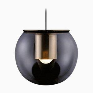 Lámpara colgante The Globe pequeña en dorado de Joe Colombo para Oluce