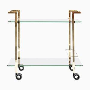Teewagen Pioneer Doris T63s Messing glänzend oder Klarglas von Peter Ghyczy