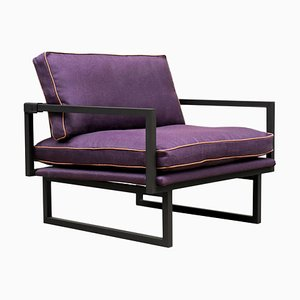 Armchair Urban Brad Gp01 Ristretto or Purple Fabric by Peter Ghyczy