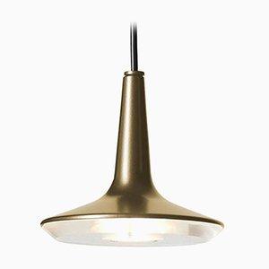 Lampada a sospensione Kin 478 color oro satinato di Francesco Rota per Oluce