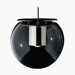 Lampada a sospensione the Globe grande color nichel di Joe Colombo per Oluce