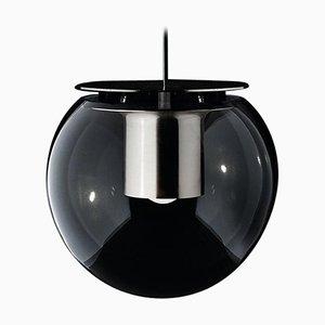Lámpara colgante the Globe grande de níquel de Joe Colombo para Oluce