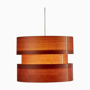 Lámpara colgante Coderch grande de madera