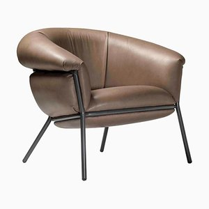Grasso Armchair in Brown by Stephen Burks