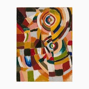 Adrian, Abstraktes Gemälde auf Holz, 2017