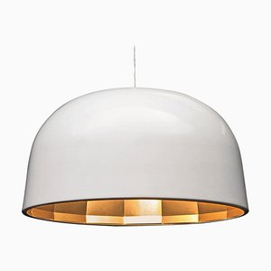 Lámpara de suspensión en blanco y cobre satinado de Jörg Boner